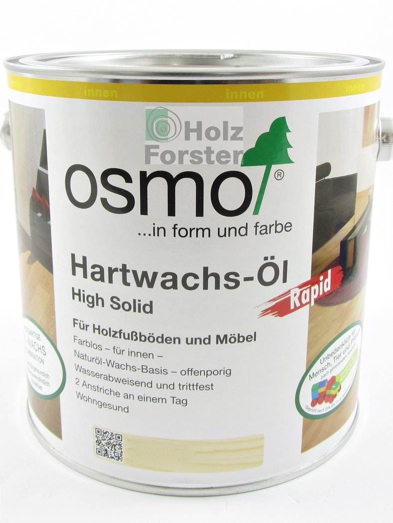 osmo hartwachs l rapid 3232 farblos seidenmatt. Black Bedroom Furniture Sets. Home Design Ideas