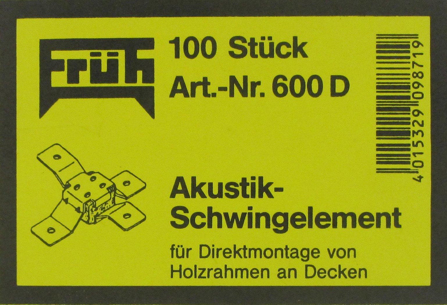 600D für Deckenkonstruktionen FRÜH Akustikschwingelemente Nr