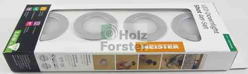MEISTER LED Downlight Shot Rund 3,4Watt, 4-er Set, Farbwahl