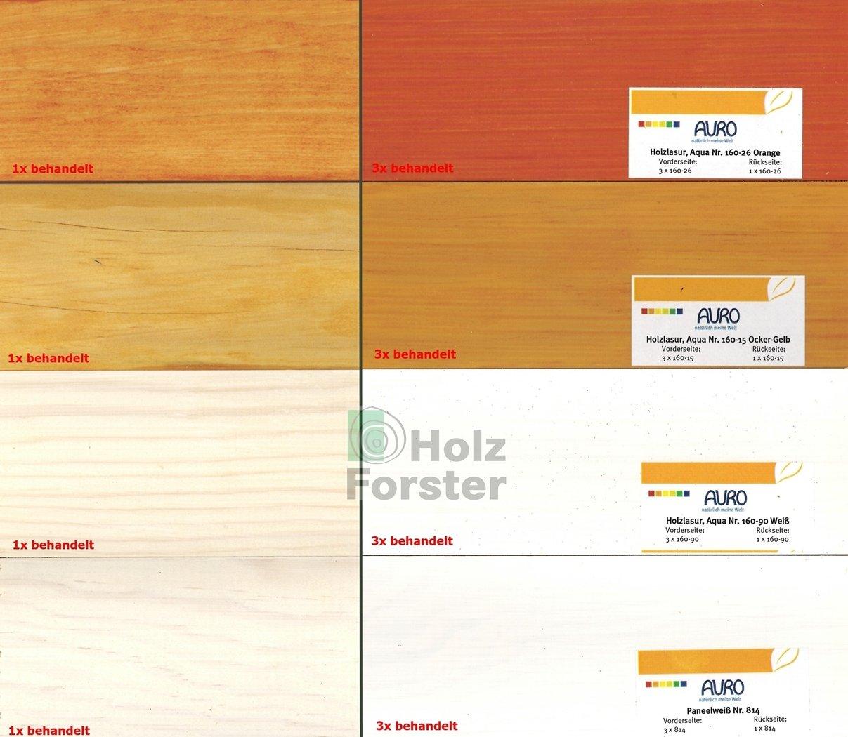 Häufig AURO Holzlasur Aqua Nr.160 verschiedene Farben 0,75 u. 2,50 Liter EC57